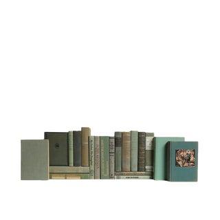 Mid-Century Mossy Oak Decorative Books - Set of 20