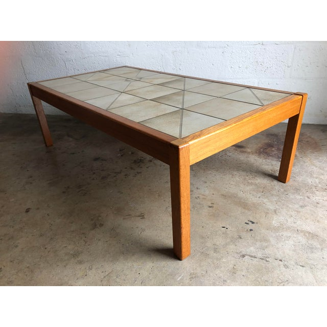 Mid-Century Modern Vintage Mid-Century Danish Modern Tile Top Coffee Table by Gangso Mobler For Sale - Image 3 of 10