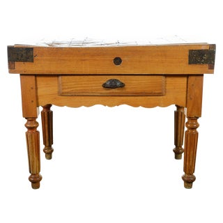 Original 19th Century Butcher Block Table