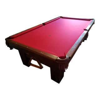 "1915 Brunswick ""The Madison"" Pool Table"