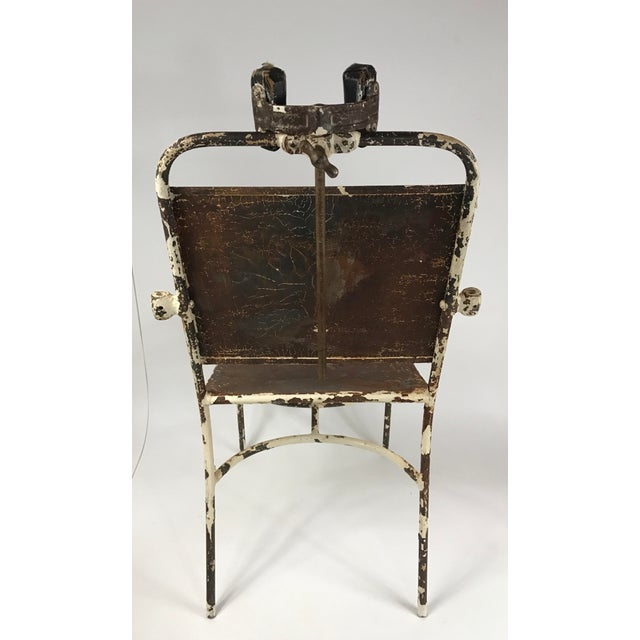 Antique Medical Exam Chair For Sale - Image 5 of 6