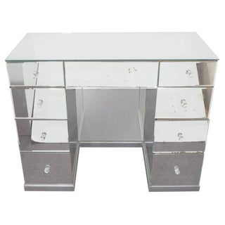 HOLLYWOOD REGENCY MIRRORED ART DECO DESK $3,800 For Sale