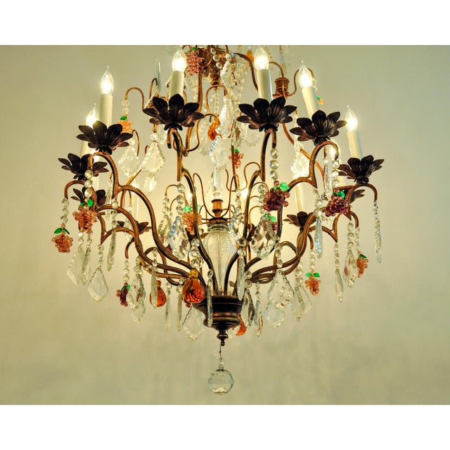 Vintage venetian murano crystal fruit chandelier chairish vintage venetian murano crystal fruit chandelier image 4 of 11 mozeypictures Images
