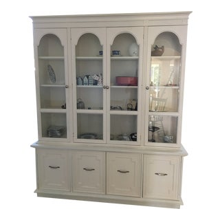 Off White China Cupboard For Sale