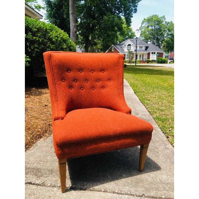 Burnt Orange Mid-Century Modern Burnt Orange Chairs - a Pair For Sale - Image 8 of 13