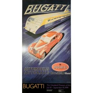 """Ettore Bugatti """"Bugatti"""" Automobiles Autorails Molsheim (Alsace), Museum Reprint Poster, 1999 For Sale"""