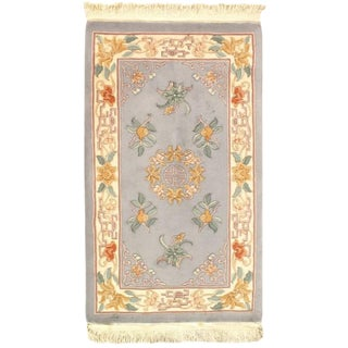 Pasargad Chinese Art Deco Gray Rug - 3' X 5' For Sale