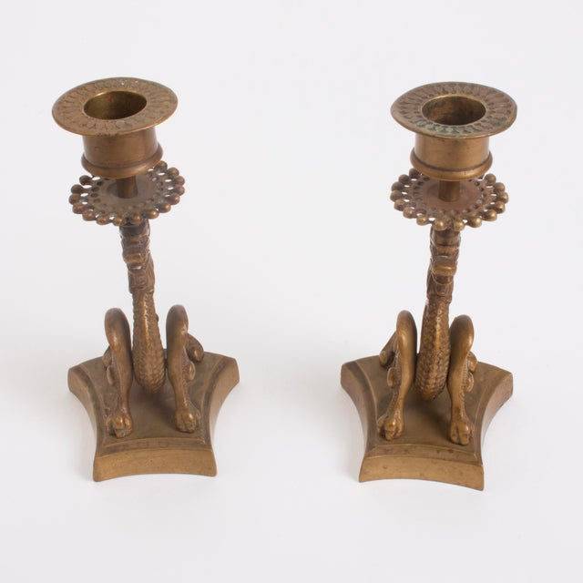 Vintage Brass Dragon Candle Holders - A Pair - Image 4 of 7
