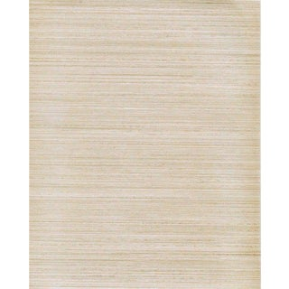 Sample, Maya Romanoff Raw Silk - Peal Charmeuse: Hand-Painted Vinyl Wallcovering For Sale