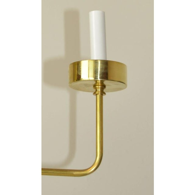 Early 20th Century Mid-Century Modern Brass Chandelier by Hart Associates LA For Sale - Image 5 of 6