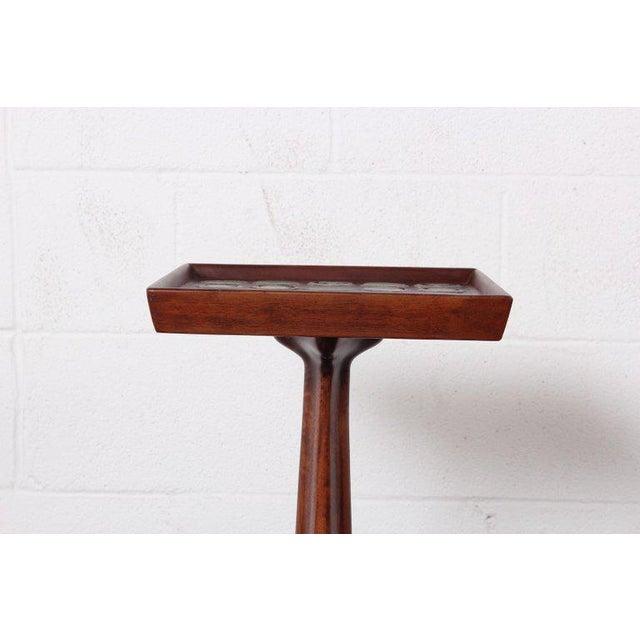 1950s Edward Wormley Dunbar Janus Side Table With Natzler Tiles For Sale - Image 5 of 13