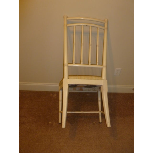 MCM Mid Century Modern Drexel Lacquered Bamboo Chair Painted - Image 4 of 6