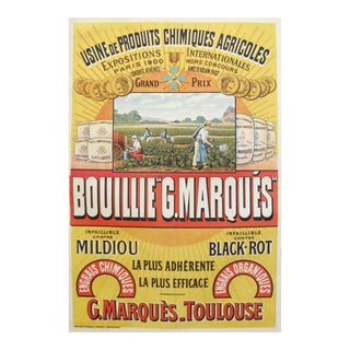 1930s French Agriculture Poster, Bouillie G. Marques Agricole