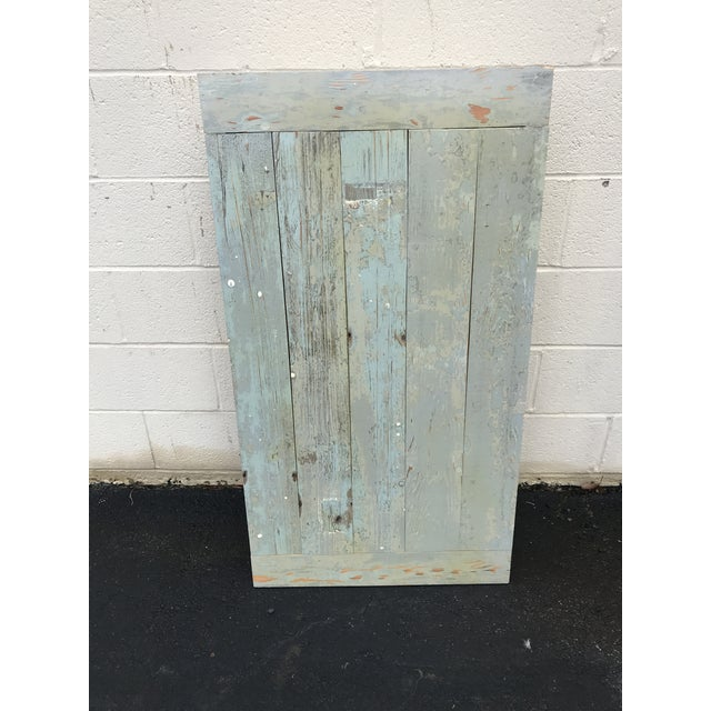 Rustic Reclaimed 1800s Plantation House Floorboards Wood Server For Sale - Image 3 of 8