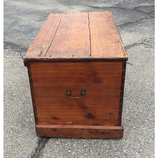 Flat Top Trunk With Handles - Image 3 of 5