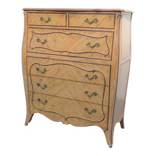 Louis XV Custom Faux Painted Bombay Chest of Drawers For Sale