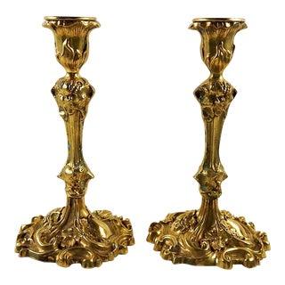 Brass Grape Vine Candlesticks - a Pair For Sale