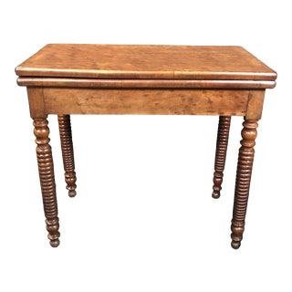 19th Century French Provincial Walnut Game Table or Console For Sale