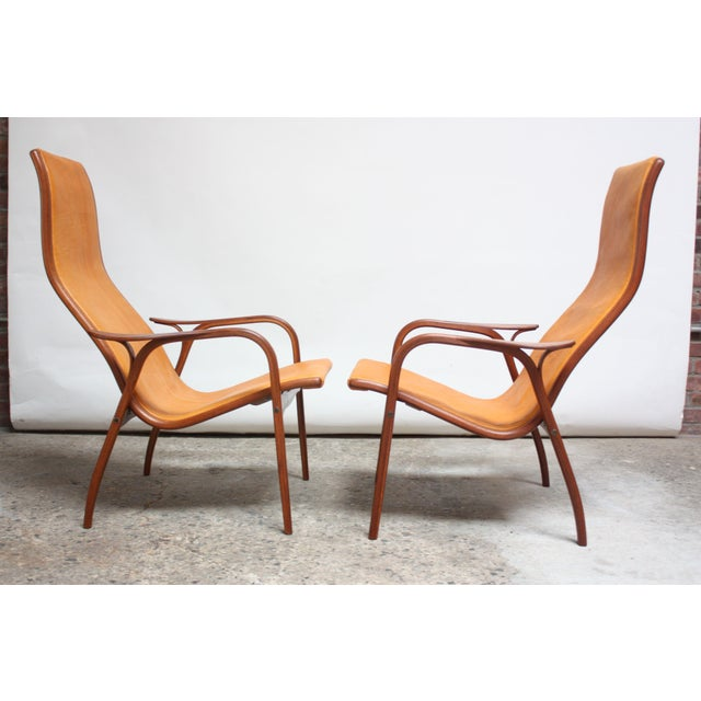 Pair of Swedish Teak and Leather 'Lamino' Chairs by Yngve Ekström For Sale - Image 13 of 13