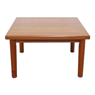 Mid-Century Danish Modern Brdr Furbo Square Teak End/Coffee Table For Sale