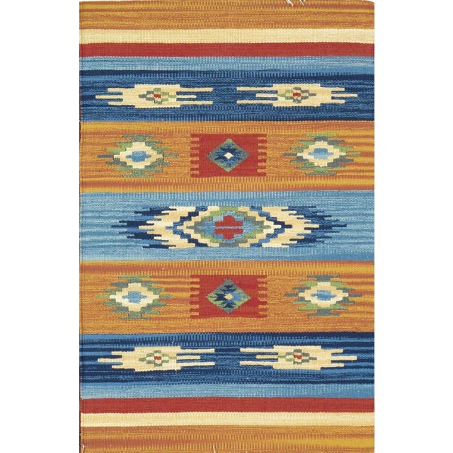 Anatolian Hand-Woven Cotton Rug - 4' X 6' For Sale