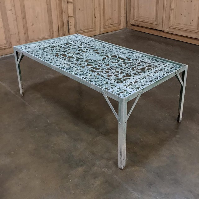 Late 19th Century 19th Century Iron Panel Coffee Table For Sale - Image 5 of 12