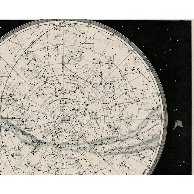 Not Yet Made - Made To Order 19th Century Celestial Map Framed Print For Sale - Image 5 of 7