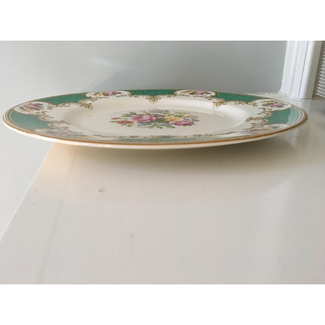 Made in England-Early 20th Century Antique Myott Royal Crown Staffordshire China Plates - Set of 6 For Sale - Image 11 of 13