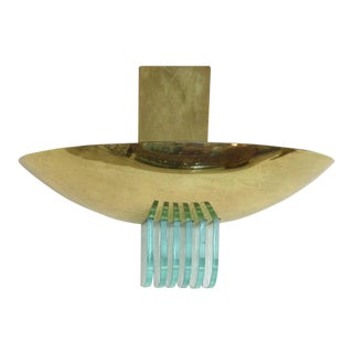1960s Brass Sconce by Stilnovo with Glass Vents For Sale
