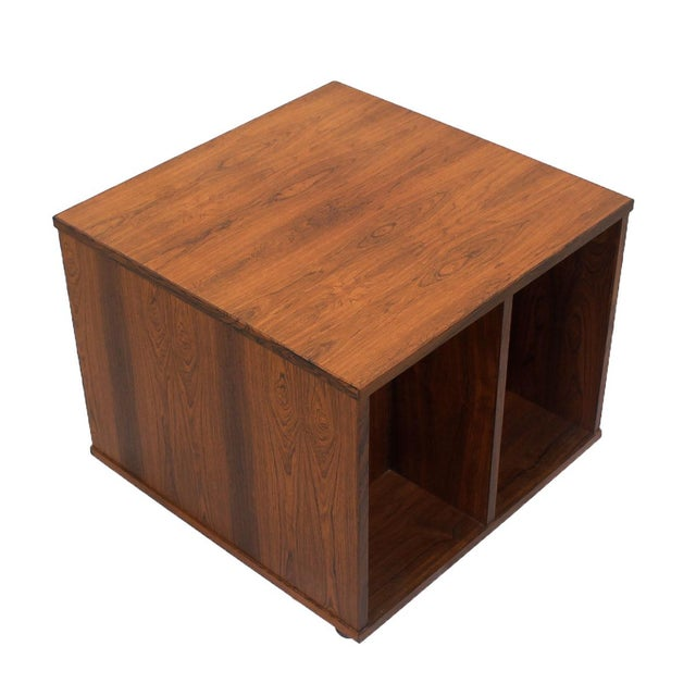 Danish Modern Rosewood Rolling Book Caddy Table - Image 1 of 5