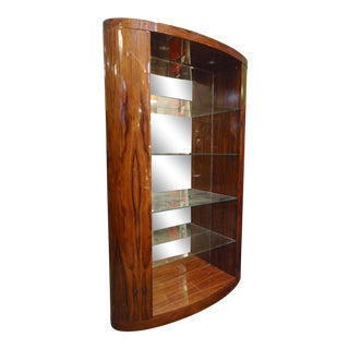Deco Style Rosewood Bookcase For Sale