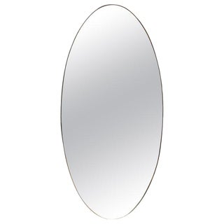 Oversize Oval Wall Mirror, Italy, Late 1960s For Sale