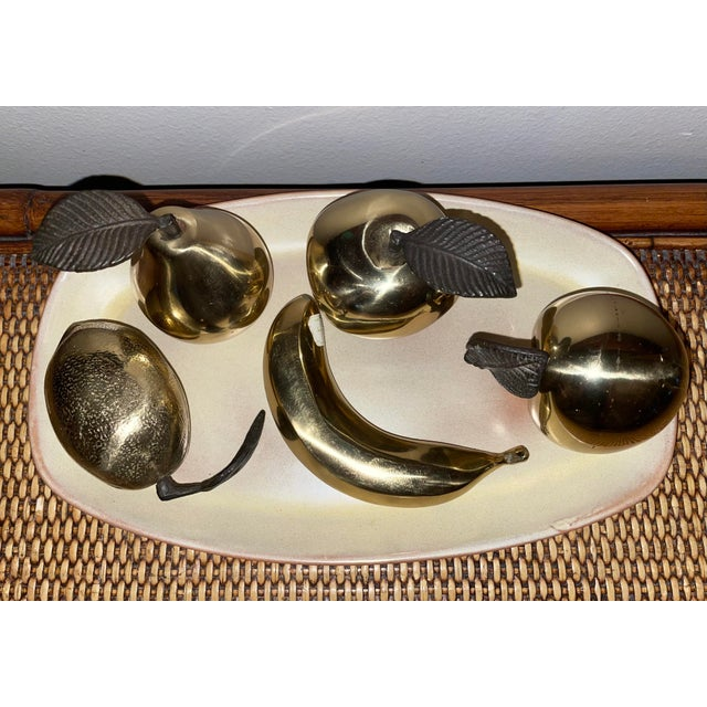 Vintage 1990s Brass Fruit - 5 Pieces For Sale - Image 4 of 8