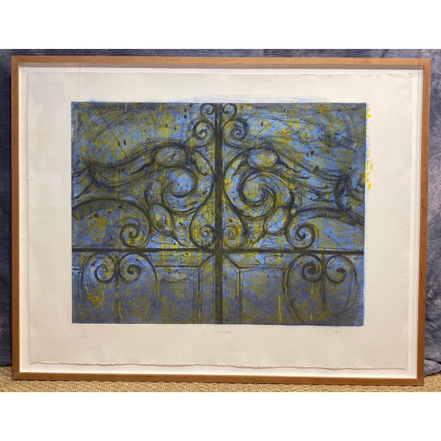 """Crommelynck Gate"" Lithograph Signed and Numbered by Jim Dine For Sale - Image 13 of 13"