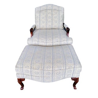 Parker Southern Furniture Bergere Chair and Ottoman For Sale