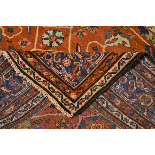 "Textile Vintage Persian Mahal Rug - 7' x 10'4"" For Sale - Image 7 of 8"