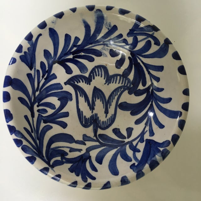 1950s 1950's Italian Blue & White Hand Painted Pottery/Ceramic - 4 Pc. For Sale - Image 5 of 11