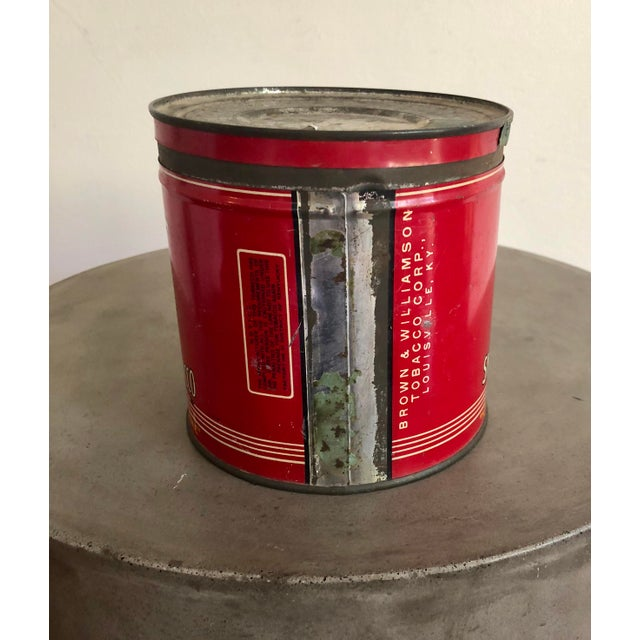Vintage Tobacco Tin With Labels For Sale - Image 4 of 10