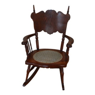 Child's Antique Victorian Rocking Chair For Sale
