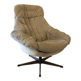 1970s Vintage H.W. Klein Bramin Denmark Swivel Chair For Sale