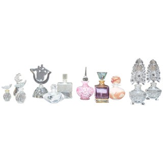Collection of Glass Perfume Bottles For Sale