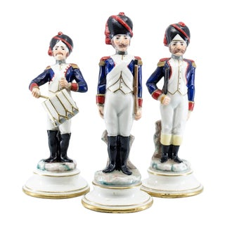 Antique Porcelain British Soldier Figures - Set of 3 For Sale