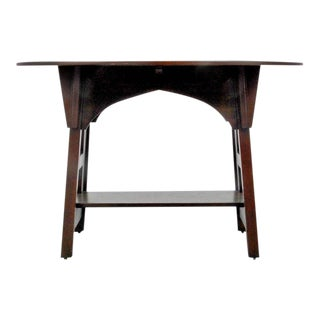 1910s Country Charles Limbert Library Table For Sale