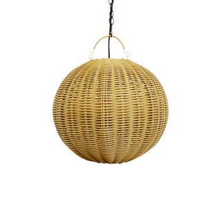 Faux Rattan Globe Lantern X-Small For Sale