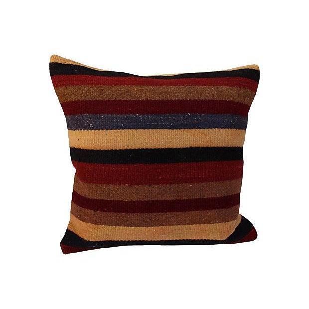 Striped Turkish Kilim Pillow For Sale