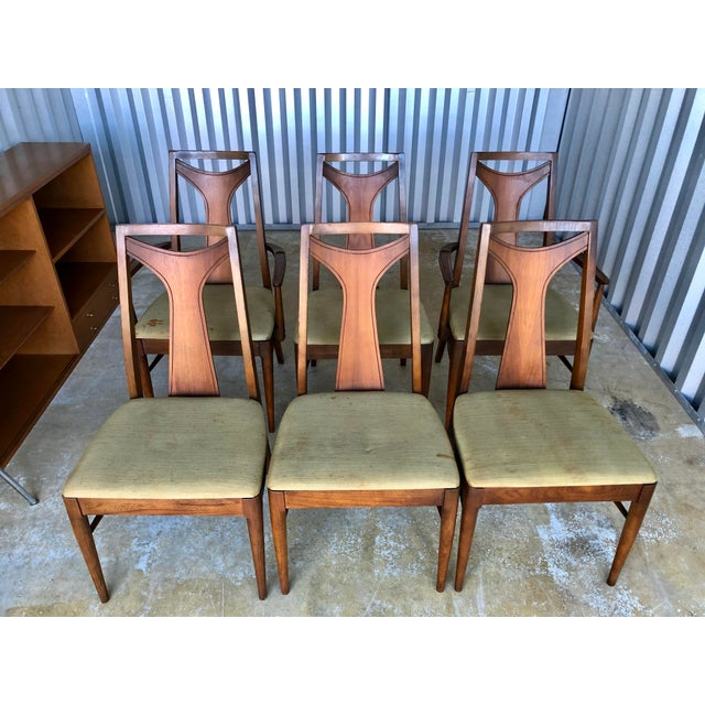 Kent Coffey Mid Century Modern Kent Coffey Dining Chairs-Set of 6 For Sale - Image 4 of 10