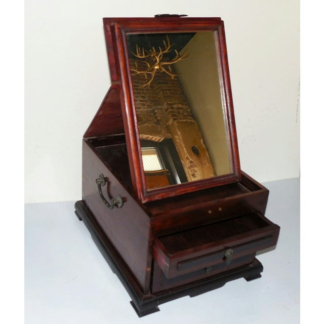 Chinese Rosewood Dressing Box With Bone Inlay - Image 6 of 10