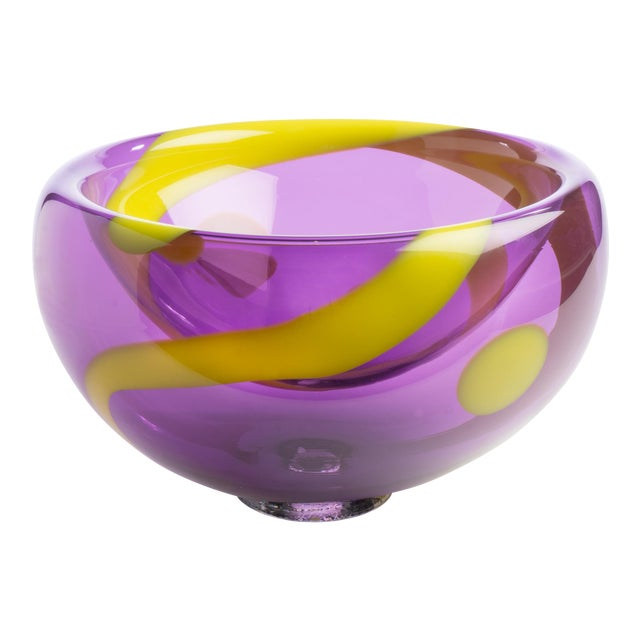 Hand Blown Bubble Glass Bowl - Image 1 of 3