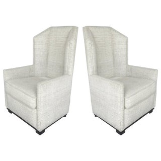 Modern Raul Carrasco Hampton Wing Chairs- A Pair For Sale