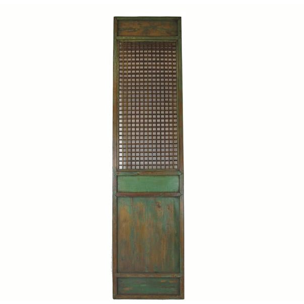 Asian 1900s Antique Chinese Lattice Panels- Set of 6 For Sale - Image 3 of 9